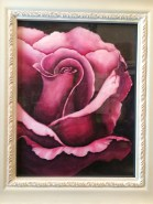 Gratitude Pink Rose Watercolor Painting by Michelle East