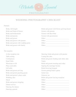 Small Of Wedding Photography Checklist