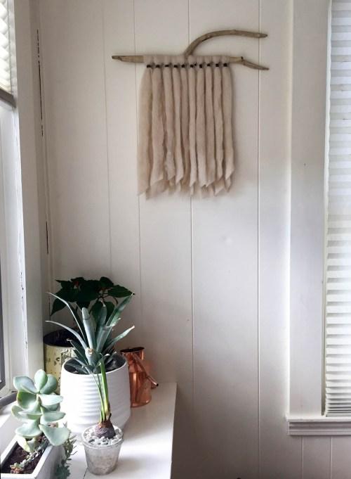 mkl michelleklare michelle liebmann alpaca roving wall hanging