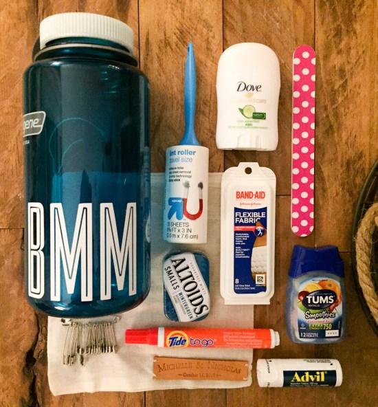 MKL michelleklare nalgene bridesmaid survival kit diy