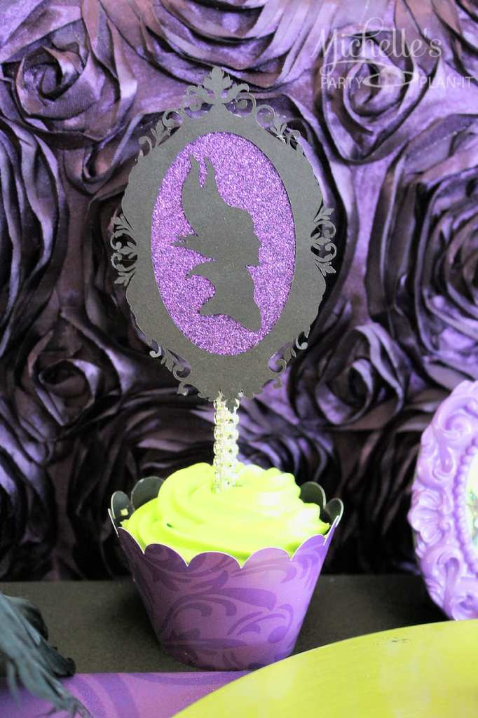 Maleficent Party Ideas - Maleficent Cupcake Toppers