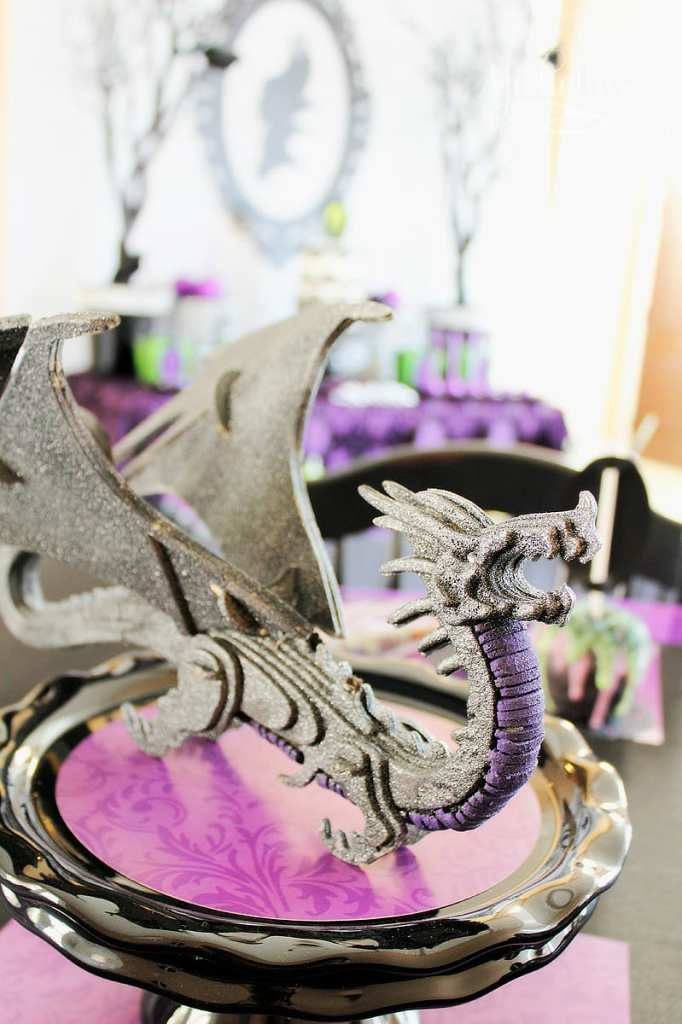 Maleficent Party Ideas - DIY Maleficent Dragon party decorations
