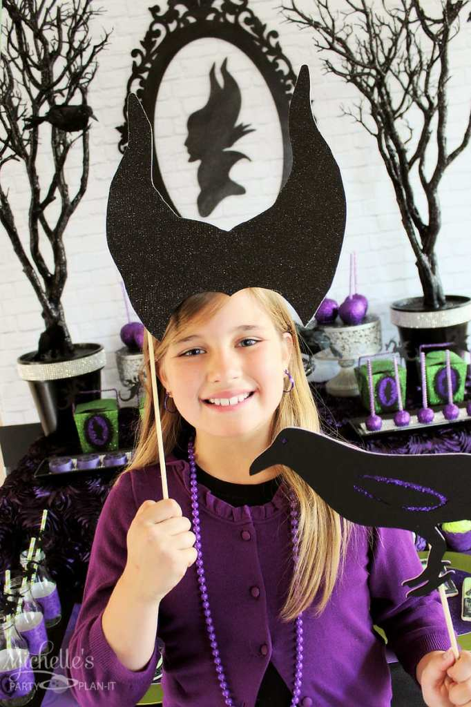 Maleficent Party Ideas - Maleficent party photo props