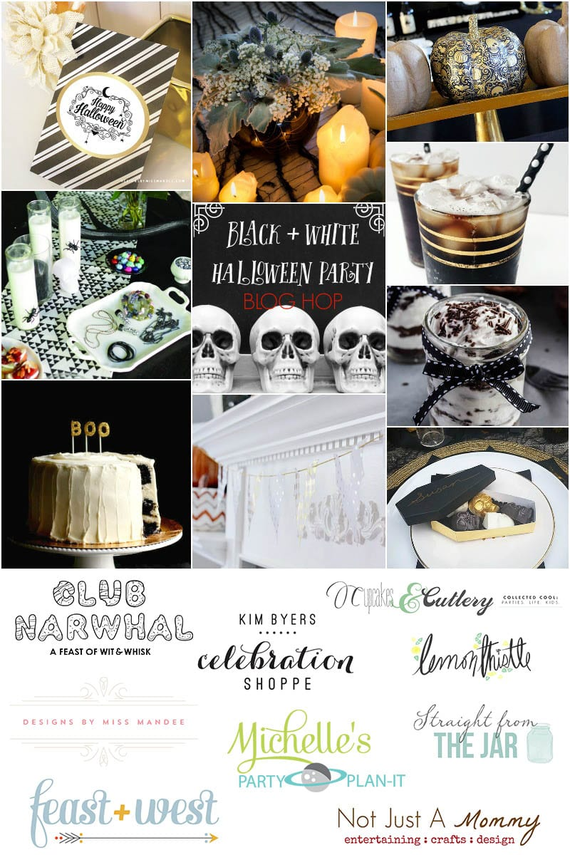 Black + White Halloween Blog Hop graphic
