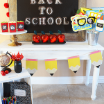Back To School Snack Table