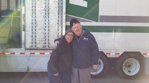 Michelle & our Bekins driver, Cliff