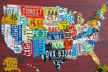 large usa map custom license plates | design turnpike