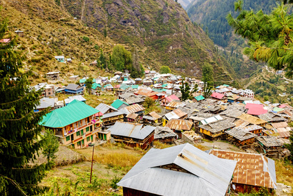 Malana village view from above , Himachal, India