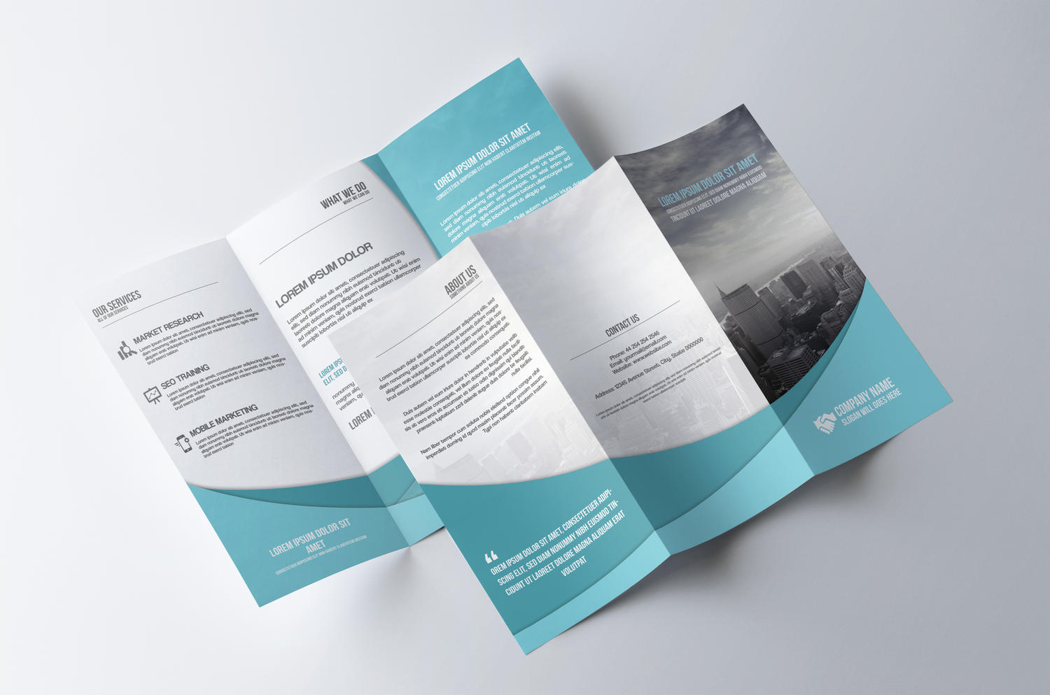 Professional Tri Fold Brochure Design by CreativeShop7 on Envato Studio Professional Tri Fold Brochure Design