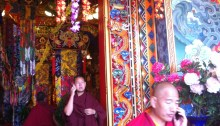 Monks in Eastern Tibet