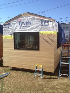 Siding almost finished