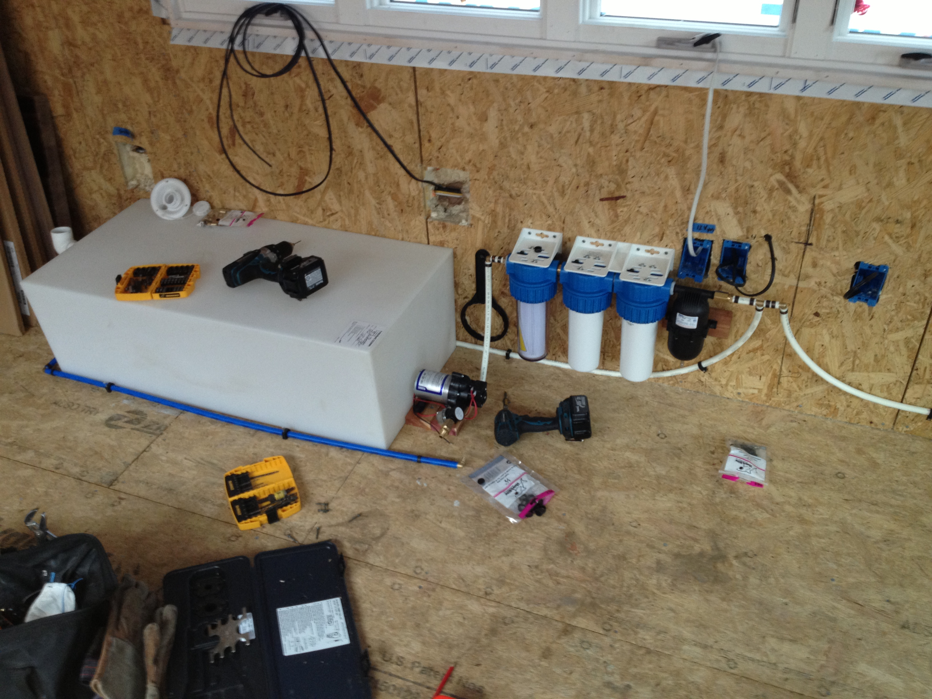 Rainwater collection for micro houses