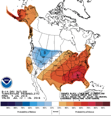 Temp Outlook 8 - 14 days