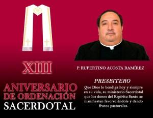 XIII ANIVERSARIO SACERDOTAL DE RUPERTINO