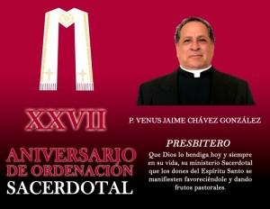 XXVII ANIVERSARIO SACERDOTAL DE VENUS CHÁVEZ