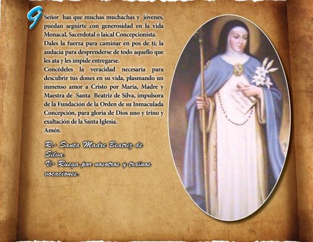 ORACIÓN VOCACIONAL CONCEPCIONISTA DÍA 09