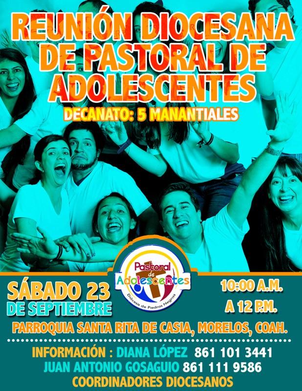 REUNIÓN DIOCESANA DE PASTORAL DE ADOLESCENTES EN EL DECANATO 5 MANANTIALES