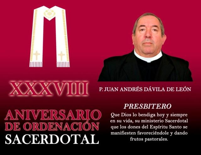 XXXVII ANIVERSARIO SACERDOTAL DE JUAN ANDRÉS
