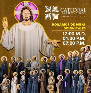 NUEVO HORARIO DE MISA DOMINICAL EN CATEDRAL DE PIEDRAS NEGRAS