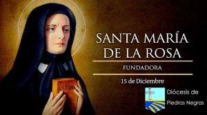 SANTORAL: Hoy es la fiesta de Santa María de la Rosa, fundadora de las Siervas de la Caridad