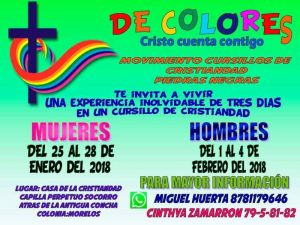 SE INVITA AL RETIRO DEl MOVIMIENTO CURSILLOS DE LA CRISTIANDAD EN PIEDRAS NEGRAS