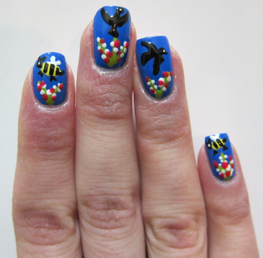 Birds and Bees Nail Art | Midrash Manicures
