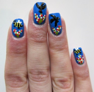 Birds and Bees Nail Art