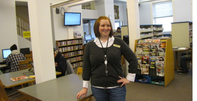 Megan Garrett recently took over as manager of the Westport Branch of the Kansas City Public Library.