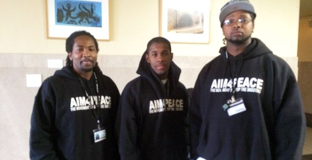 "Aim4Peace ""interrupters."""