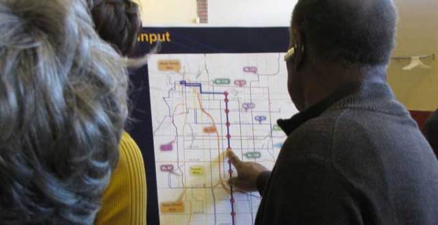 Residents gave input into the Prospect MAX bus line in October of 2013.