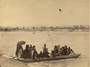 Image credit: Alexander Gardner, American, b. Scotland (1821-1882). Indians crossing the North Platte River at Fort Laramie, 1868. Albumen print, 9 9/16 × 12 3/4 inches. The Nelson-Atkins Museum of Art, Gift of Hallmark Cards, Inc., 2005.27.526.