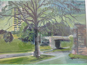 "Courtesy Penn Valley Park Conservancy. 2nd Place—""State of Development"" mixed media, 11 x 14, Alex Hamil, Kansas City, Mo."