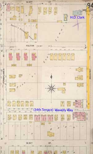 1895-1907 map.. During this period, the area was outside the outskirts of Westport and was made up of homes and apartments.