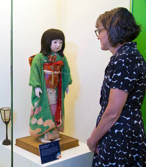 Japanese friendship doll, part of a temporary exhibit.