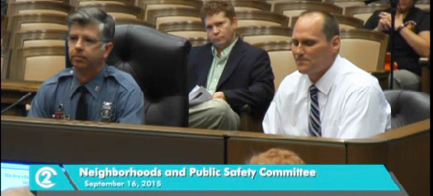 Andy Hamil and Mike Foster of Central Patrol reported to the city council on the last crime trends.
