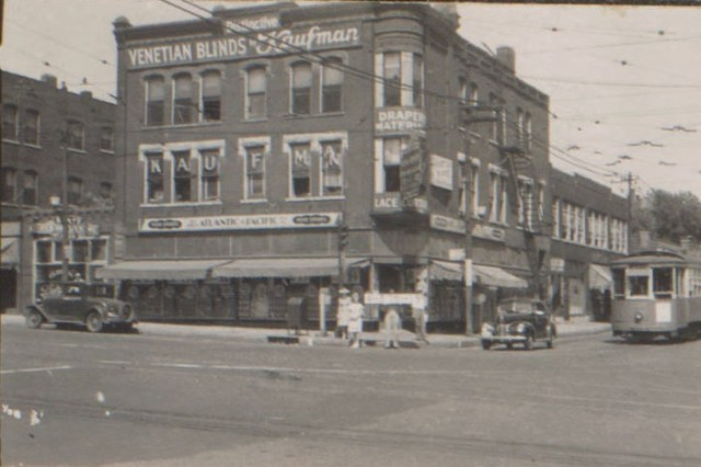 The corner of Thirty-first and Main in 1940.