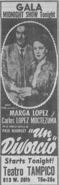 At some point, the name of the theater was changed to the Tampico, as seen in this 1953 advertisement.