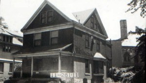 A home at 3929 Baltimore, listed in 1899 as modern in every way, has since been replaced, as have the rest of the homes that once stood on the block.