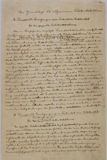 Einstein-Manuscript