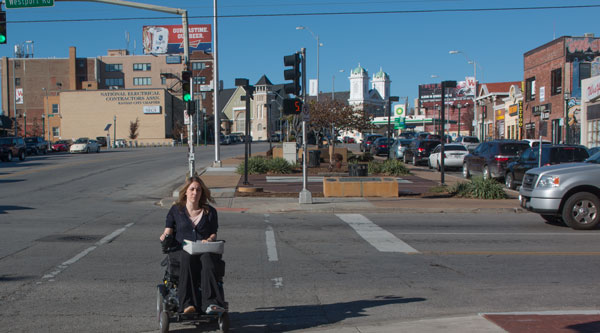 Candice Minear, an independent living advocate at The Whole Person, knows the sidewalks of Westport better than most people. She knows where the pavement is too narrow to navigate, there cracks can catch the wheels of a wheelchair, and where a lack of curb cuts makes it impossible to get from the street to the sidewalk.