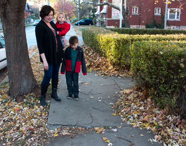 Cracked, chipped and leaf-covered sidewalks are some of the problems Sara Murphy and her children encounter when they walk in Hyde Park. Murphy is among a number of Midtown residents who wonder why sidewalks are so hard to maneuver.