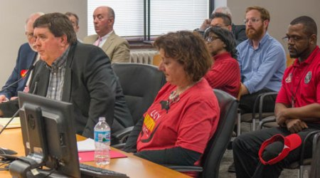 Greg Patterson told the council that a CID will help to improve Broadway. Diane Burnette of the Main Street CID joined Patterson for the presentation to the council business session.