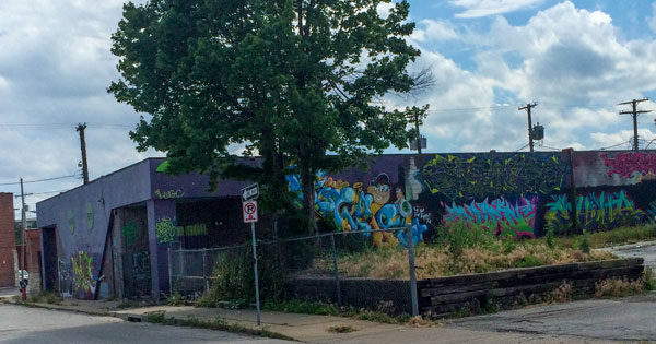 The XO Club at 39th and Central, empty and covered with graffiti, could be torn down to make way for a new Mariott extended stay hotel.