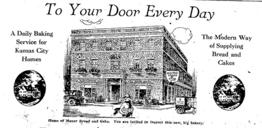 Manor Bread expanded its property in the 1930s and also petitioned the city to close 40th Street Terrace. This image is from a newspaper advertisement in 1929.