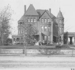 "When this photo was taken around 1900, the William Smith family lived in this thirty-room mansion at 30th and Troost, known then as ""millionaire's row."" At that time, the area was the most fashionable part of the city. The home was razed in 1938."