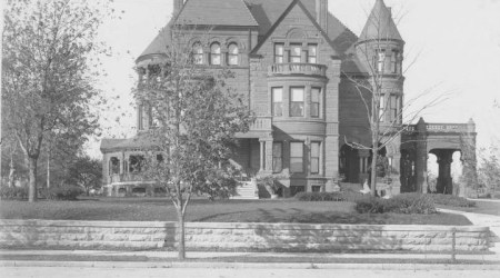 """When this photo was taken around 1900, the William Smith family lived in this thirty-room mansion at 30th and Troost, known then as """"millionaire's row."""" At that time, the area was the most fashionable part of the city. The home was razed in 1938."""