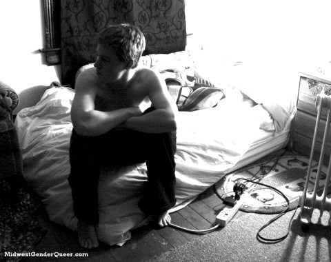 December, 2007: In my bedroom, four months on T. This shot encompassed the exact image of masculinity I wanted to embody.