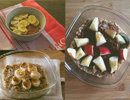 breakfast oatmeal 3 ways