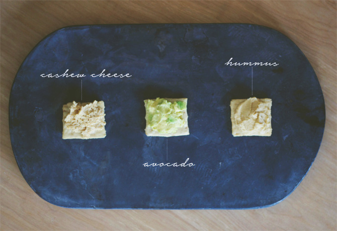 spread 3 ways + cashew cheese | midwestlovefest.com