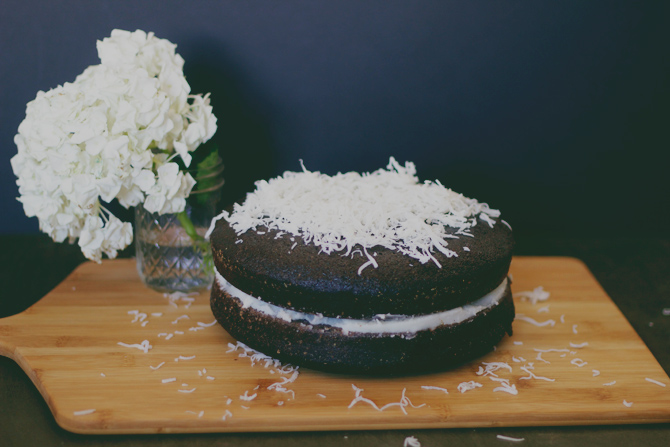 eggless, easy chocolate cake from scratch